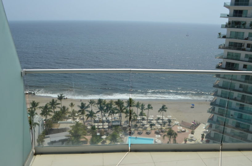 Balcony view Condo for rent Icon Vallarta