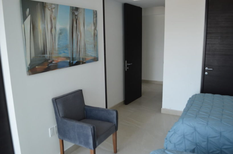 Bedroom armchair Condo for rent Icon Vallarta