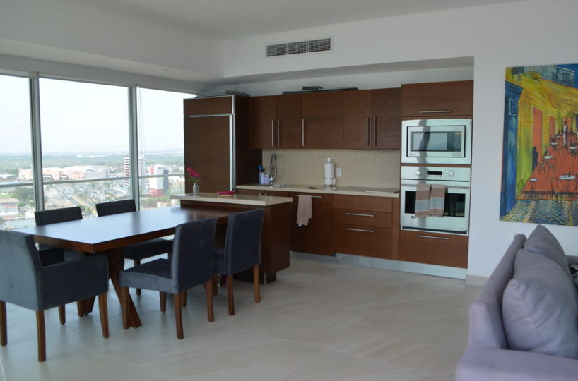 Kitchen Condo for rent Icon Vallarta