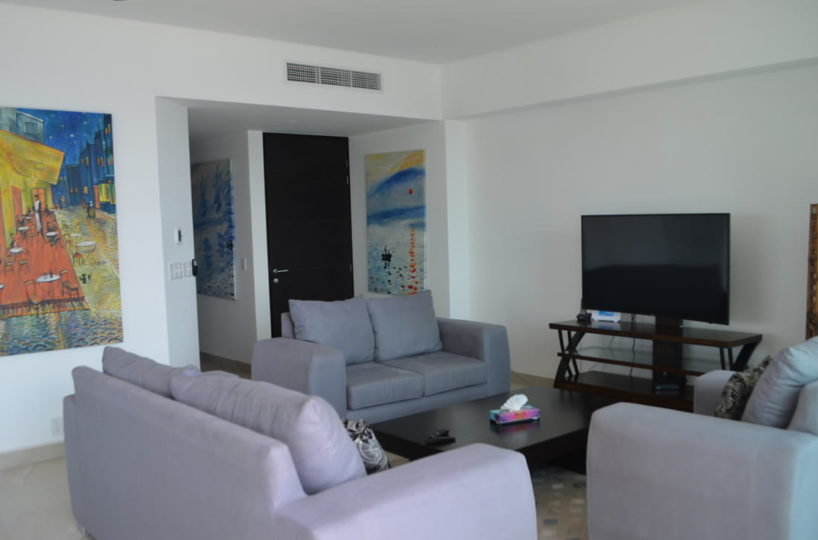 Living room Condo for rent Icon Vallarta