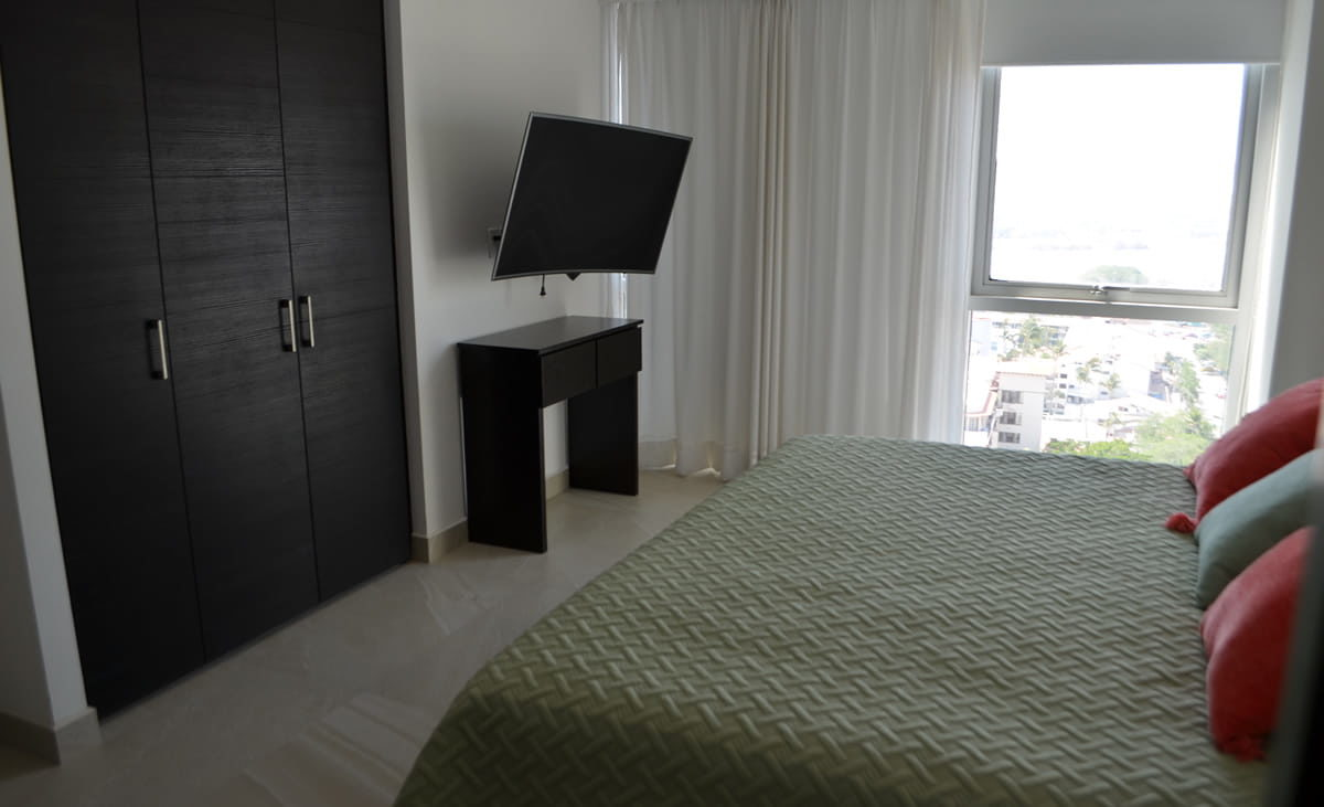 TV Master Room Condo for rent Icon Vallarta