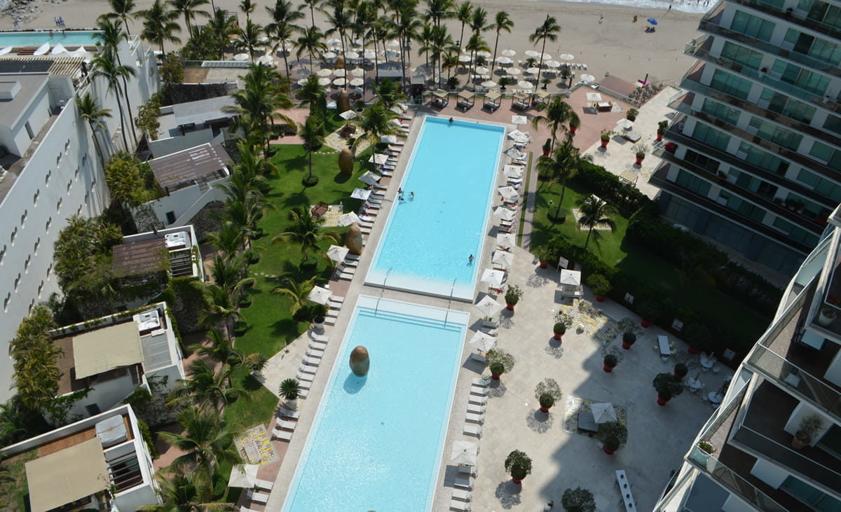 View pools Condo for rent Icon Vallarta