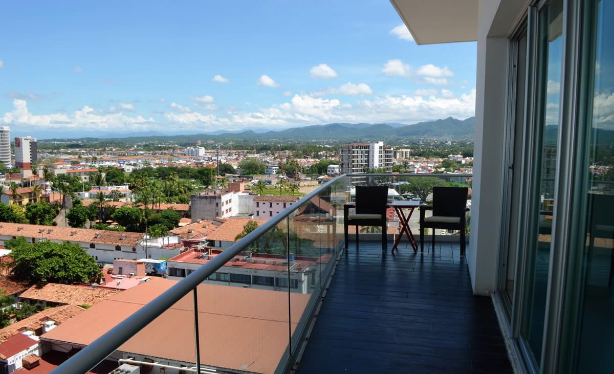 Balcony view Icon Vallarta Condo Rental