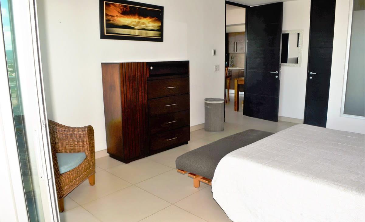 Bedroom decoration Icon Vallarta Condo Rental