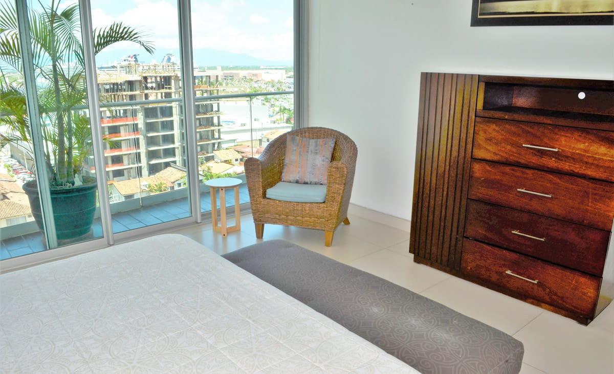 Bedroom with terrace Icon Vallarta Condo Rental