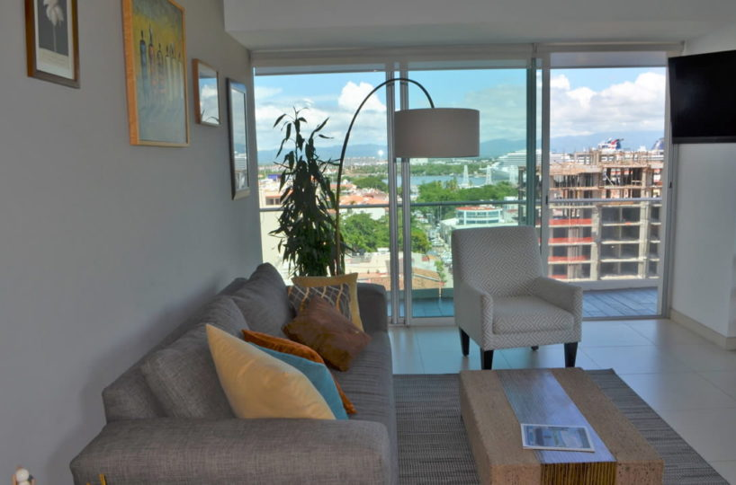 Living room Icon Vallarta Condo Rental