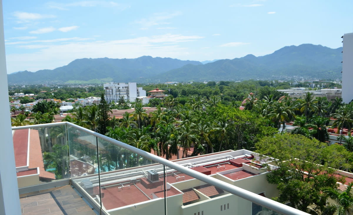 Balcony view Icon Vallarta Luxury Condo Rentals