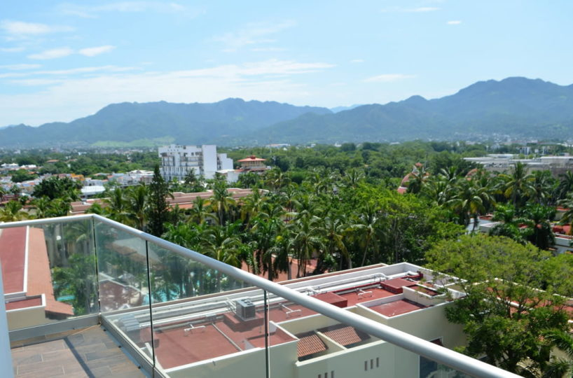 Balcony view Icon Vallarta Luxury Condo Rentals