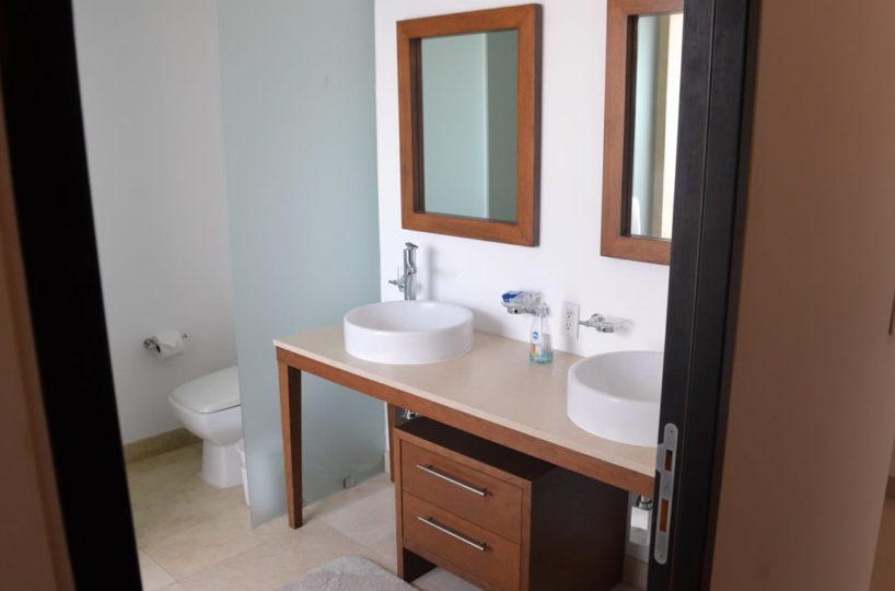 Bedroom bathroom Icon Vallarta Luxury Condo Rentals