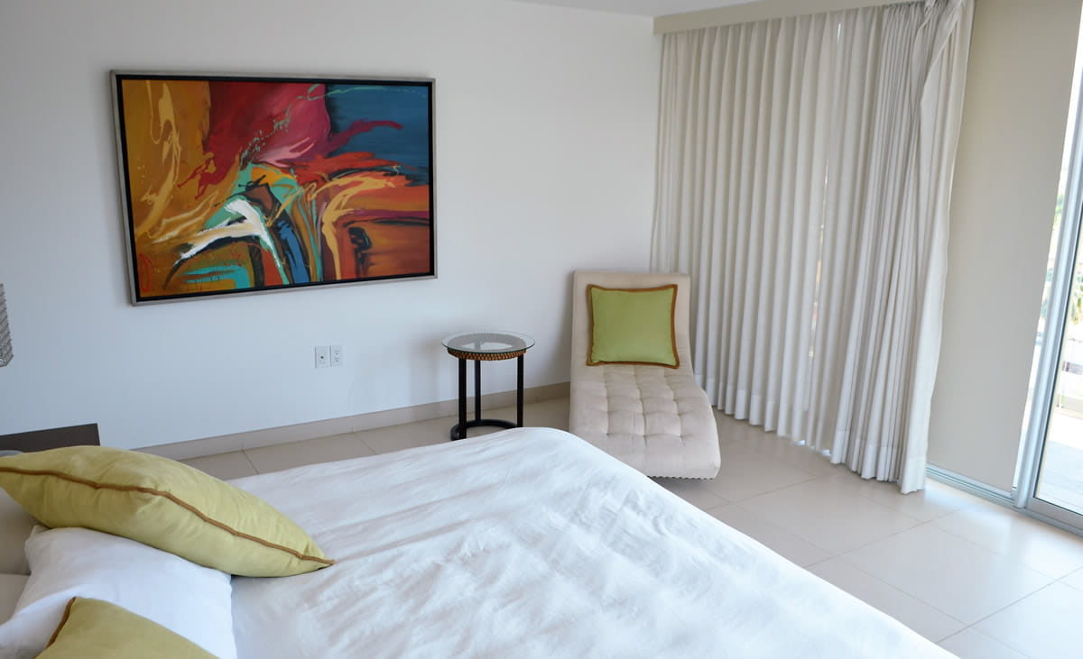 Bedroom sofa Icon Vallarta Luxury Condo Rentals