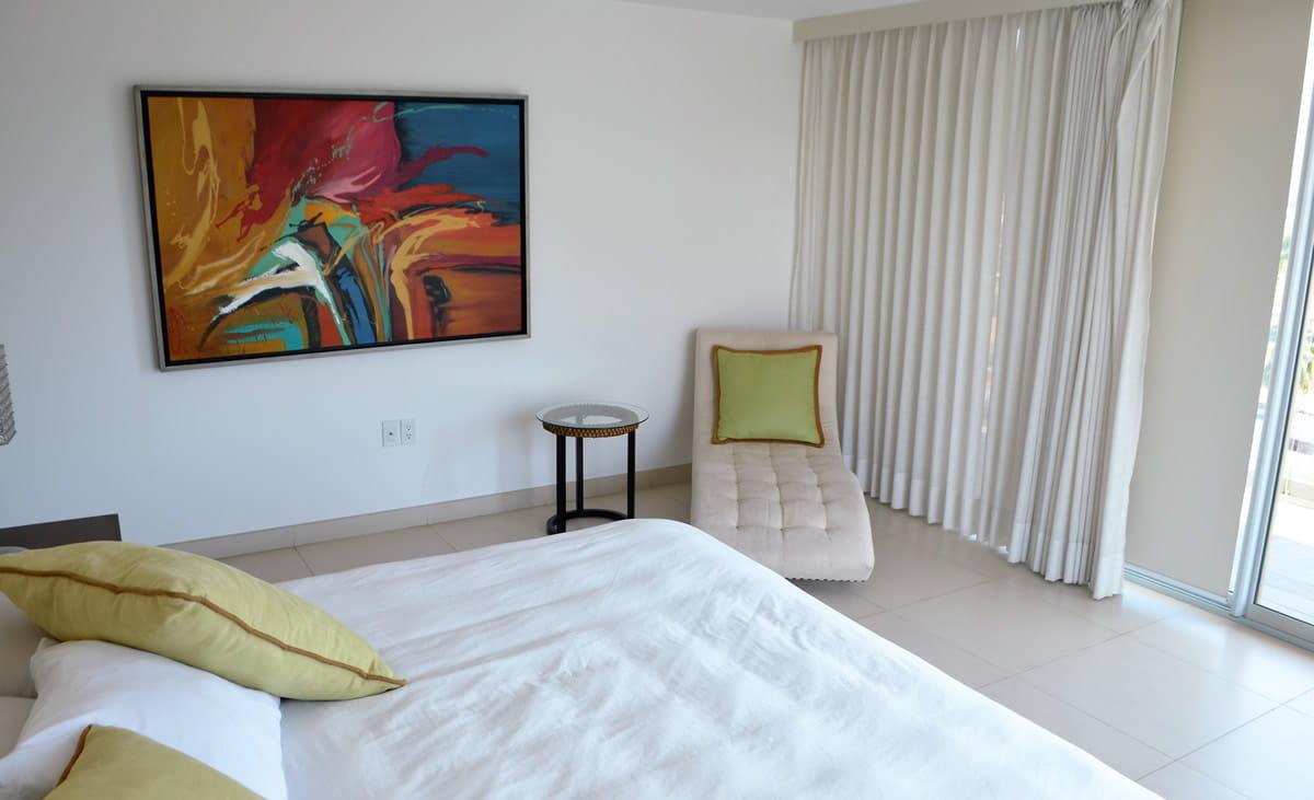 Bedroom sofa Icon Vallarta Luxury Condo Rentals
