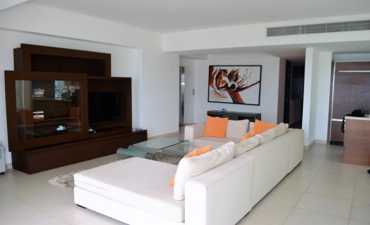 Living room Icon Vallarta Luxury Condo Rentals