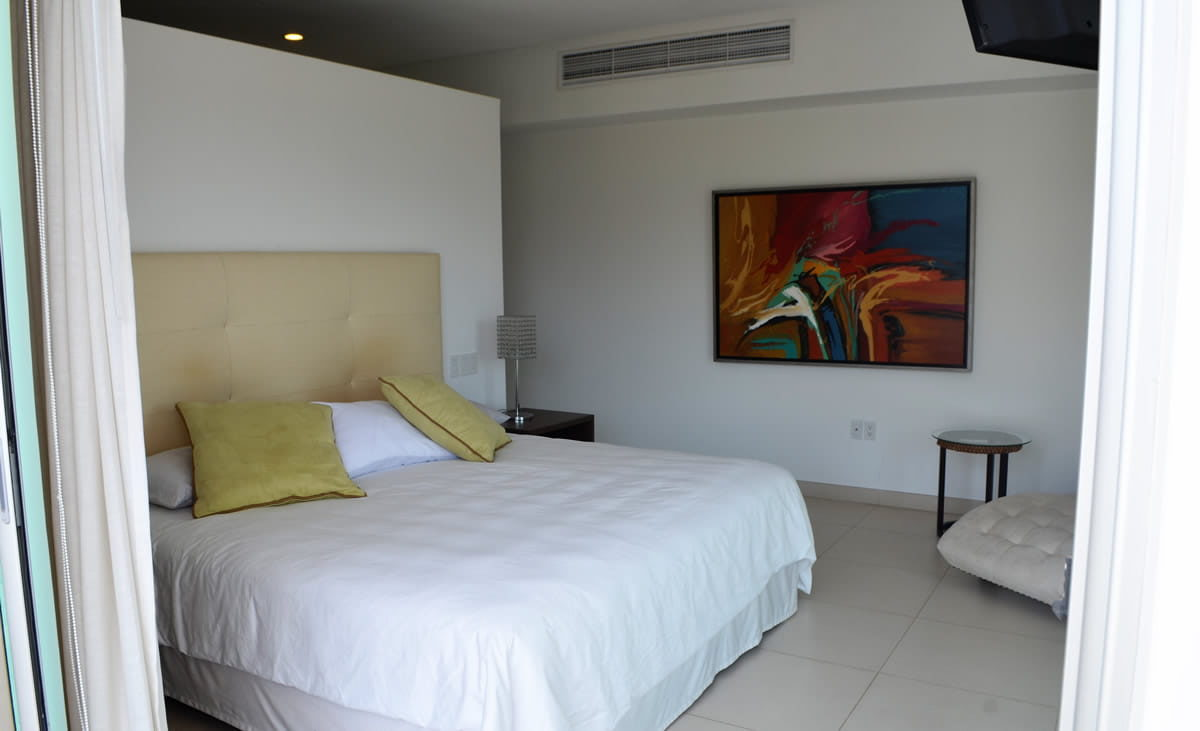 Master bedroom Icon Vallarta Luxury Condo Rentals