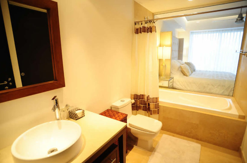 Bathroom with jacuzzi Condominium Icon for rent Puerto Vallarta Mexico