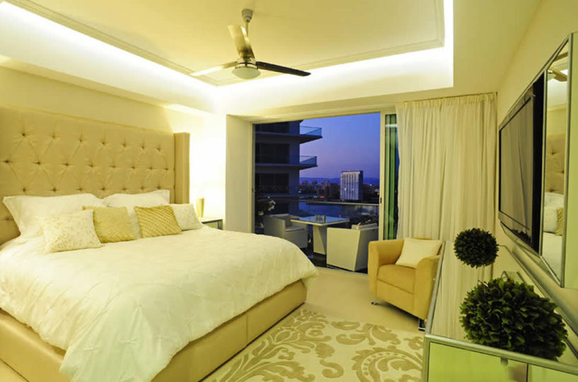 Bedroom with terrace Condominium Icon for rent Puerto Vallarta Mexico
