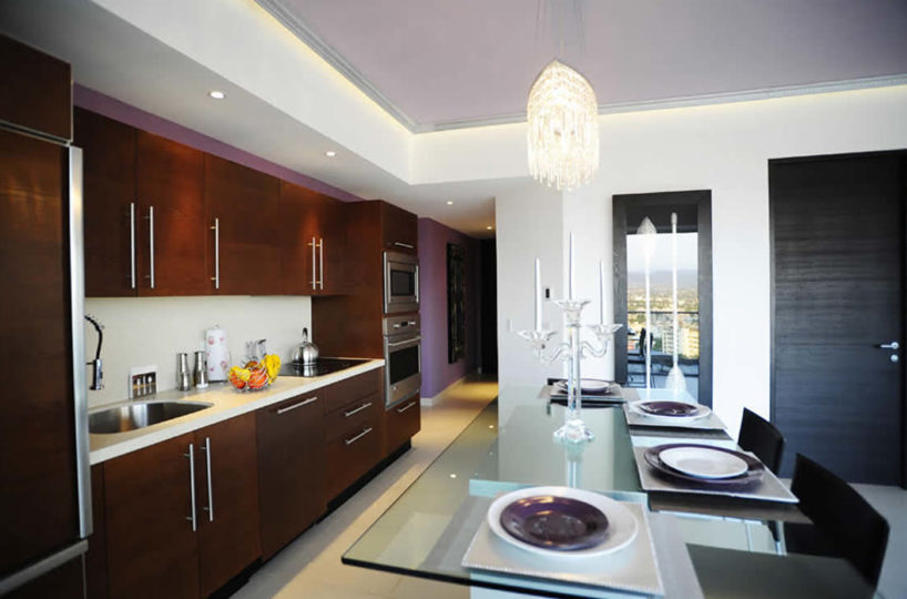Kitchen and dining room Condominium Icon for rent Puerto Vallarta Mexico