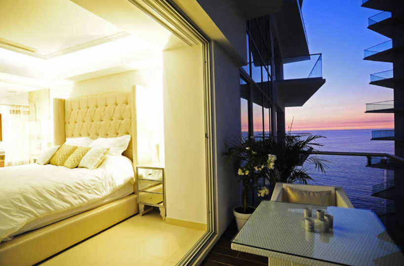 Terrace overlooking the ocean Condominium Icon for rent Puerto Vallarta Mexico