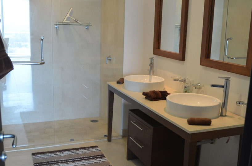 Bathroom master room Icon Vallarta Condo Rentals