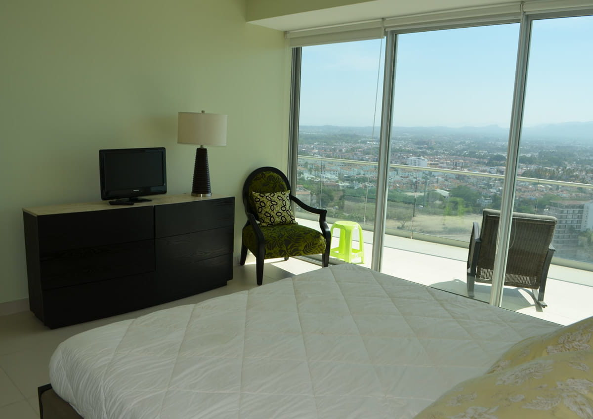 Bedroom with terrace Icon Vallarta Condo Rentals