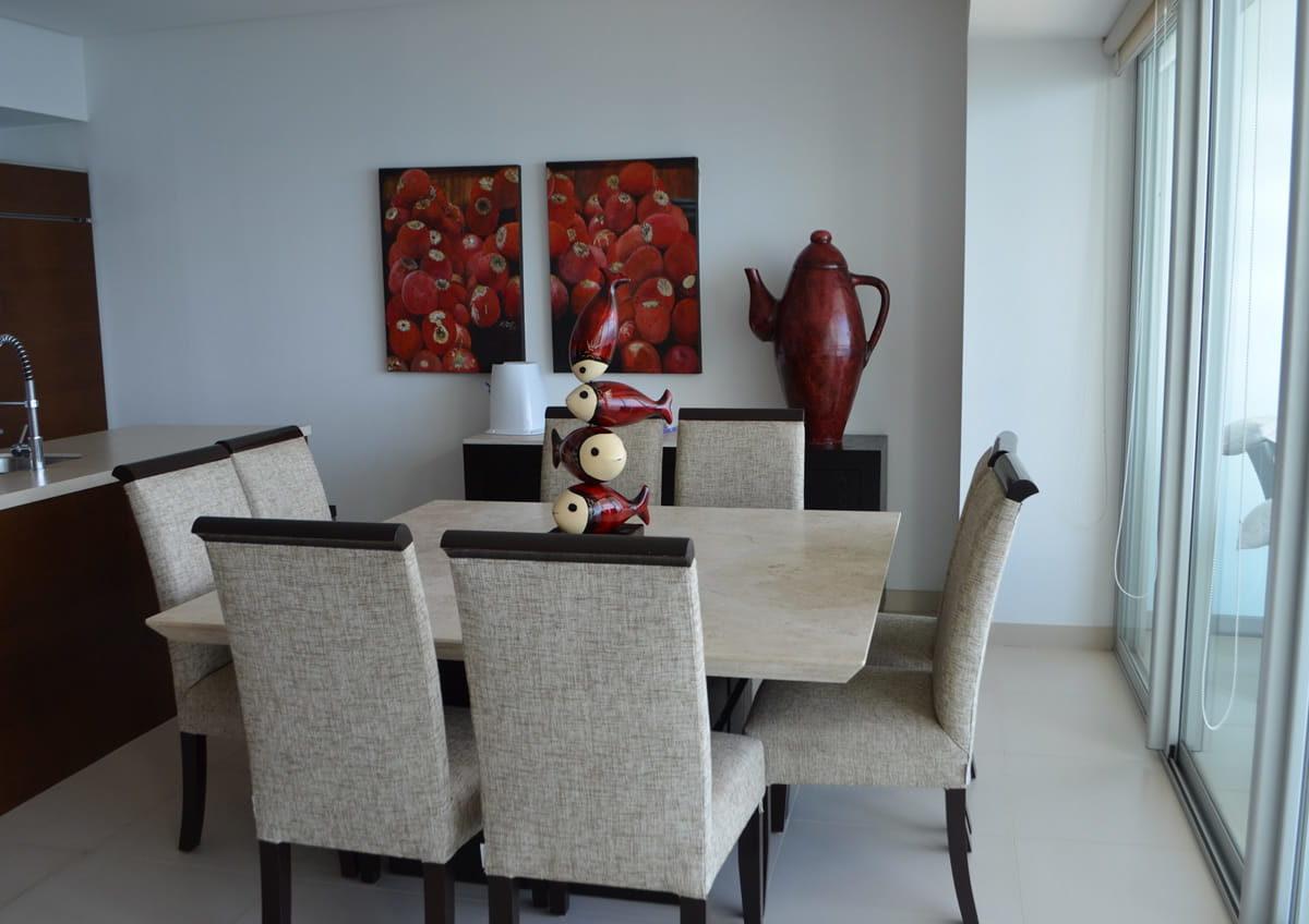 Dinning room Icon Vallarta Condo Rentals