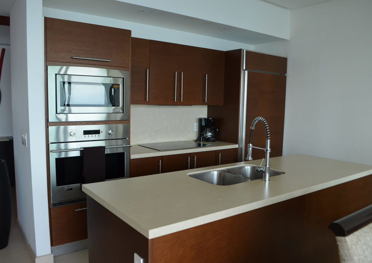 Integral kitchen Icon Vallarta Condo Rentals
